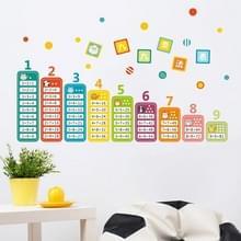 Kindergarten omgeving layout 9 9 vermenigvuldigen tabel math Toy muur stickers