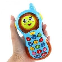 Kinderen intelligent licht veranderende gezicht telefoon muziek vroege onderwijs puzzel simulatie telefoon  willekeurige kleur levering
