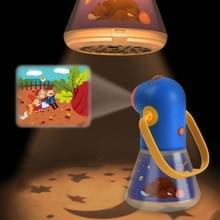 Midder kinderen Toy projector multi-functioneel verhaal drie in een sterrenhemel slapen licht baby nachtlampje (blauw)