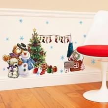 Santa Claus muur stickers ingericht venster glasdeur en venster muur stickers
