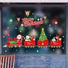 Kerst muur stickers venster glas Festival muur stickers Santa muurschildering New Year Home Decoratie (Merry Christmas)
