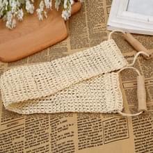 Natuurlijke sisal lange wrijven handdoek met handvat Bad strip plant Fiber Bad wipe
