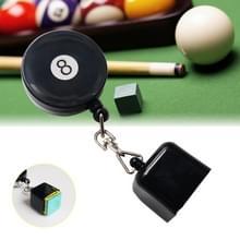 Intrekbare RVS tabel Pocket krijt Tip houder snooker accessoires (zwart)