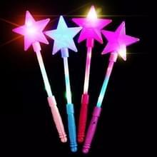 4 PC'S pentagram Flash Stick sterrenlicht sticks Festival lichten  willekeurige kleur leveren
