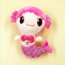 3 PC'S zeemeermin pluche speelgoed bruiloft creatieve pop grijpen doek pop kleine hanger pop  grootte: 15cm (roze)