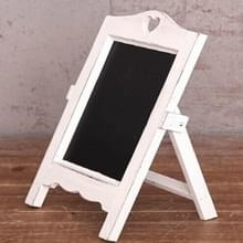 Multifunctioneel houten bureaublad memo message blackboard  grootte:35 ×20×12cm(Wit)