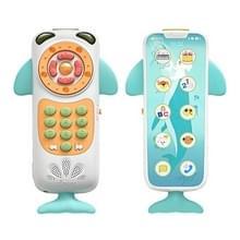 Baby multifunctionele afstandsbediening puzzel vroege onderwijs muziek touch screen simulatie telefoon speelgoed (wit)