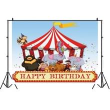 Birthday Party Game Opknoping Doek Foto Circus Achtergrond Doek Fotografie Studio Rekwisieten  Grootte:1.2m x 0.8m(NWH04919)