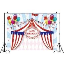 Birthday Party Game Opknoping Doek Foto Circus Achtergrond Doek Fotografie Studio Rekwisieten  Grootte:1.2m x 0.8m(NWH03313)