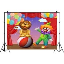 Birthday Party Game Opknoping Doek Foto Circus Achtergrond Doek Fotografie Studio Rekwisieten  Grootte:1.2m x 0.8m(NWH06285)