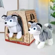 Schattige kinderen elektrische geluidsregeling simulatie pluche huisdier machine speelgoed (Husky)