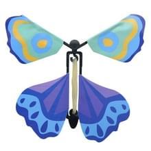 Magische wetenschap nieuwigheid vliegende vlinder Toy Magic Props (blauw + violet)