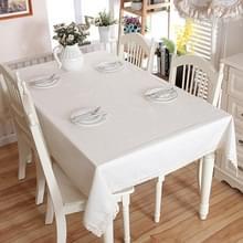 Linnen katoen dikker tafelkleed hem Splice wasbaar koffie diner tabel doek voor bruiloft banket  grootte: 90x90cm (witte Lace)