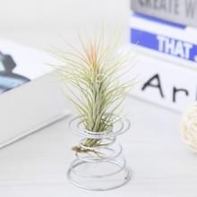 2 stks Air aluminium draad ananas wroeten houder voorjaar basis  grootte: 5.2 × 5.35 × 6cm (zilver)