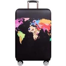 Travel Luggage Cover Koffer Stofdichte Krasbestendige Bescherming Elastische Hoes  Maat:XL Maat 29 tot 32 inch (World Map)