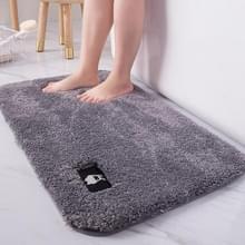 Badkamer toilet absorberend Badmat tapijt slaapkamer antislip voet pad  grootte: 50x60cm (donkergrijs)