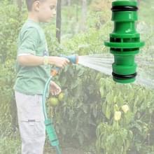 2 stks 4 punt twee richtingen fopspeen reparatie Verlengslang Quick connector plastic tuin tool (groen)