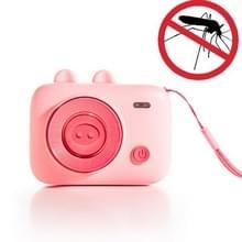 Outdoor Anti-mosquito Kinderen Cartoon Camera USB Muggenwerend middel  Stijl: Batterij Modellen (Roze)