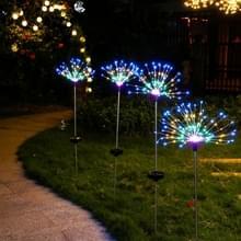 Outdoor Garden Lawn Solar Ground Light LED Vuurwerk Star Decoratie Lamp (Kleurrijk Licht)