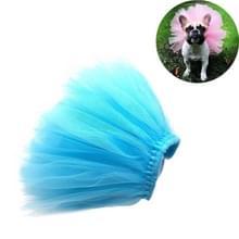 Zomer huisdier aankleden half-lengte Mesh Rok  Size:S (Blauw)