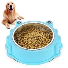 Cartoon Animal Type stainless Steel Pet Dog Single Bowl (Blauw)