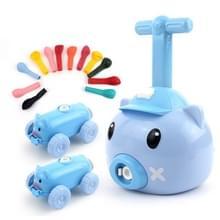 Piggy Air Powered Balloon Car Friction Car Kinderen Intellectuele Speelgoed (Blauw)