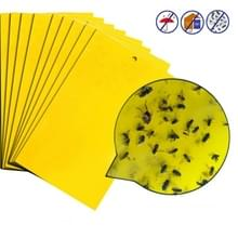 10 Packs Dubbelzijdige Stick Insect Board Yellow Board Melon Fruit Fly Trap Board