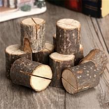 10 PCS Log Stump Nnote Houder Foto Clip Creative Home DIY decoratieve ornamenten schieten rekwisieten