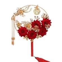 Wedding Supplies Ancient Style Bruidsronde Fan Klassieke Zijde Holding Bloemen Fan Fotografie Holding Fan met Gift Box (Phoenix Fly)