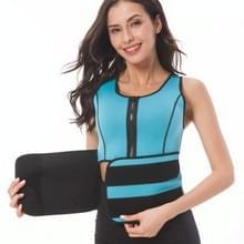 Neopreen corset yoga vest zweet pak postpartum buikriem  grootte: s (hemelsblauw)