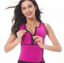 Neopreen corset yoga vest zweet pak postpartum buikriem  grootte: s (rose rood)