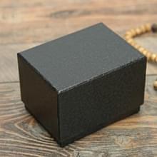 8 PCS Litchi Texture Watch Box Sieraden Gift Box Earring Ketting Sieraden Horloge Verpakking Doos  Kleur: Zwart