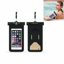 5 PC's geschikt voor mobiele telefoons onder 6 inch mobiele telefoon waterdichte tas met armband en kompas (zwart)