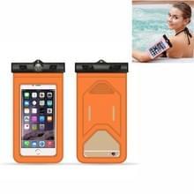 5 PC's geschikt voor mobiele telefoons onder 6 inch mobiele telefoon waterdichte tas met armband en kompas (oranje)