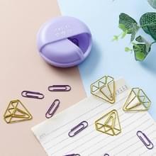 2 PCS Creative Cute Cartoon Paper Clip Kleurrijke Girl Kleding Opknoping Paper Clip Paper Clip (Macaron paars)