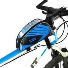 2 PCS B-SOUL Mountain Bike Beam Upper Tube Bag Bilaterale Bag Touch Screen Mobiele Telefoon Tas (Blauw)
