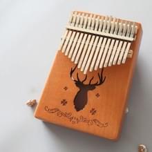 17-tone Kalimba Portable Thumb Piano  Style:Mahonie-Classic Herten