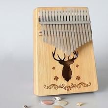 17-tone Kalimba Portable Thumb Piano  Style:Bamboo-Classic Herten