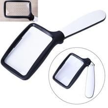 2X Handheld Vouwen Vijf LED-verlichting voor ouderen lezen kranten HD acryl optische lens vergrootglas