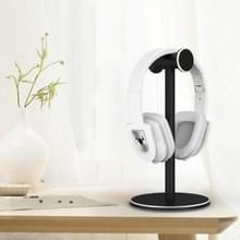 Hoofd gemonteerde metalen oortelefoonhouder Internet Cafe Desktop Display Stand (Zwart)
