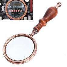 10x metalen houten handvat Retro Lezing Vergrootglas Handheld Ebbenhouten Gift Vergrootglas
