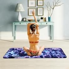 Microfiber Eco-vriendelijke Anti-slip handdoek opvouwbare Yoga Mat Sport Laken  Grootte: 183 x 63cm (Donkerblauw)