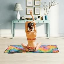 Microfiber Eco-vriendelijke Anti-slip handdoek opvouwbare Yoga Mat Sport Laken  Grootte: 183 x 63cm (Geel)