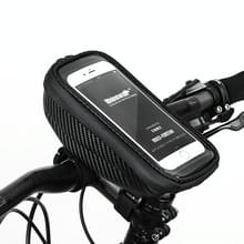 Rhinowalk Hard Shell Stuur Tas Touch Screen Phone Bag Mountain Bike Front Bag (Zwart)