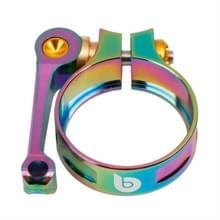 Litepro Seat Tube Clamp LP Folding Bike Seat Clamp CNC 41mm Geschikt voor 33 9 mm stoelbuis  kleur: elektroplating kleurrijk