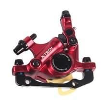 ZOOM HB100 Mountain Bike Hydraulische remklauwklapfietskabel trek hydraulische schijfremklauw  Style:Front(red)