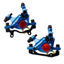 ZOOM HB100 Mountain Bike Hydraulische remklauwklapfietskabel Trek hydraulische schijfremklauw  stijl:voor en achter(Blauw)