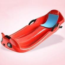 Grass Board Aadult Verhoging Verdikking Kinderen Snowboard Sand Board Sled Car Ski Car Fineer  Grootte: 100 x 43 x 29cm(Rood)