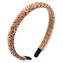 2 PCS handgemaakte fijnsnijdende stof hoofdband crystal hoofdband (Khaki)