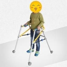 Directionele vierwielige Walker met cerebrale parese kinderen revalidatie training apparatuur Walker Permanent Frame  Specificatie: 4071 Large (Foggy Silver)